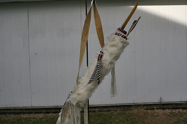 Charolais Cowhide Set with Turkey Feather