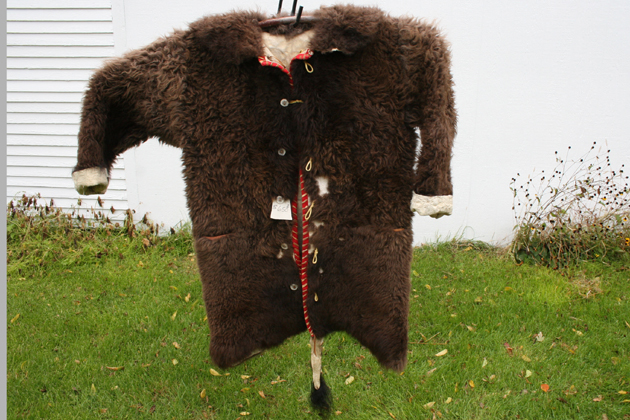 Buffalo Coat with Wool Trim