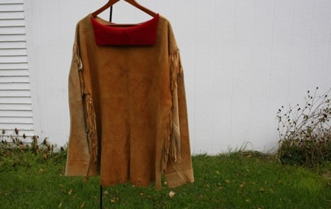 Buckskin War Shirt with Fringe