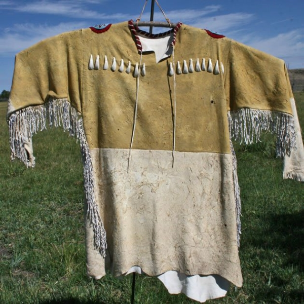Two-tone Antelope Leather War Shirt