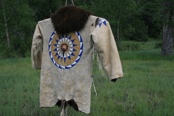 Painted Buffalo Coat