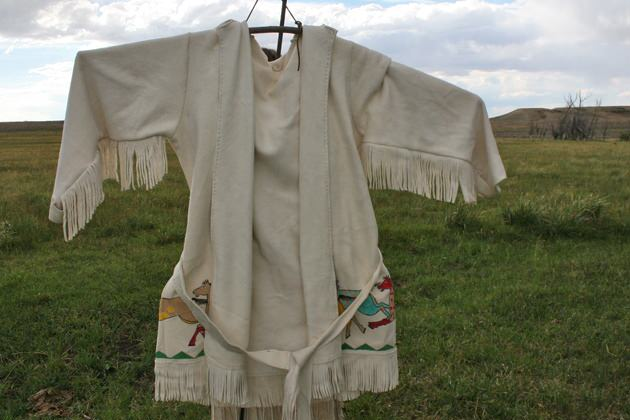 White Elk Leather Coat