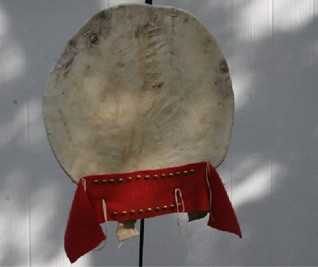 War Shield with Red Wool and Tacks